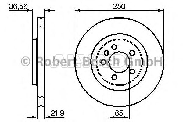 Brake Disc Bosch 0986478852 For Volkswagen Seat Audi
