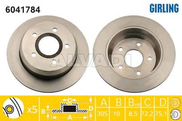 Brake Disc DELPHI BG3660 BG3660 For JEEP GRAND CHEROKEE