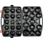 Cap type oil filter wrench set 30pcs